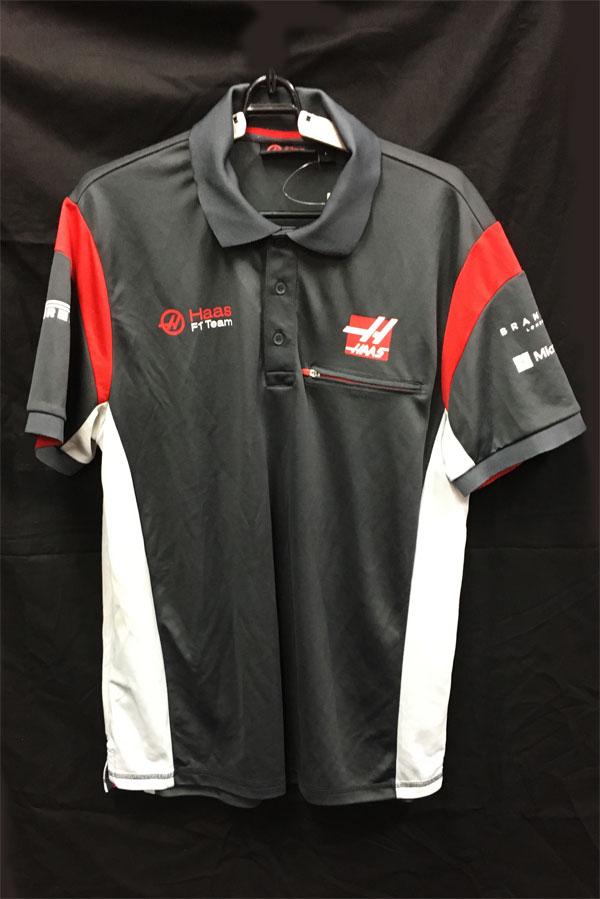 【SALE】ハースF1チーム 2017 チーム支給品 ポロシャツ USED サイズL (A)