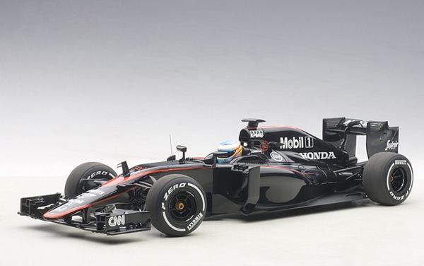 オートアート 1/18 マクラーレン ホンダ MP4-30 F.アロンソ  2015年スペインGP NO.14(ドライバーフィギュア付き)