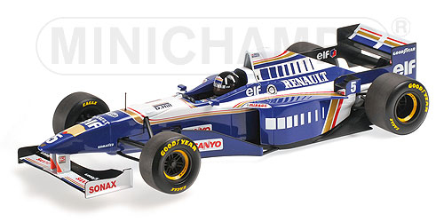 ミニチャンプス 1/18 ウィリアムズ ルノー FW18 D.ヒル 1996ワールドチャンピオン