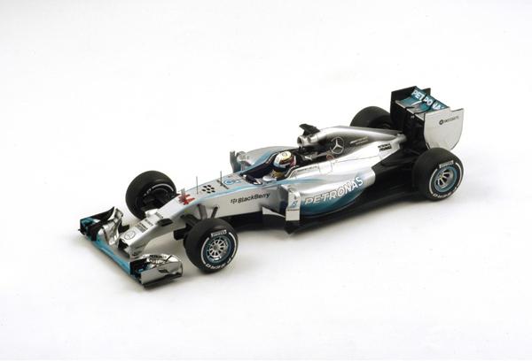 スパーク 1/18 メルセデス W05 L.ハミルトン 2014年優勝イギリスGP No.44