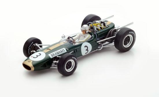 【ミニカーフェア対象】スパーク 1/18 ブラバム BT19 J.ブラバム 1966年ワールドチャンピオンNo.3