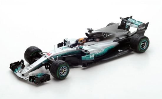 【ミニカーフェア対象】スパーク 1/18 メルセデス F1 W08 L.ハミルトン 2017年中国GP優勝 No.44