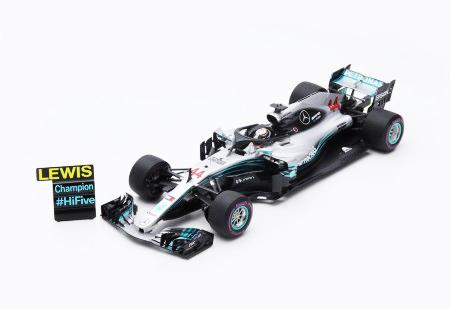 【2019/3月発売予定ご予約商品】当店オリジナル特典付 18S355 スパーク 1/18 メルセデス W09 L.ハミルトン2018年メキシコGP 2018 Formula One Driver Champion (With pit board)