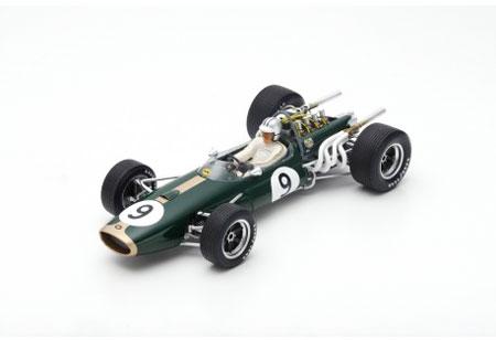 スパーク 1/18 ブラバム BT20 D.ハルム 1967年モナコGP優勝D No.9
