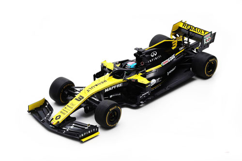 スパーク 1/18 ルノー F1 R.S.19 D.リカルド 2019年オーストラリアGP No.3