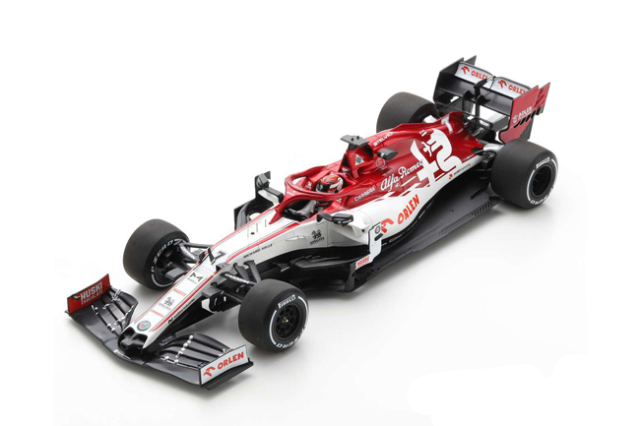 スパーク 1/18 アルファロメオ F1 C39 K.ライコネン 2020プレシーズンテスト No.7