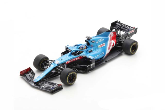 スパーク 1/18  アルピーヌ A521 F.アロンソ  2021年バーレーンGP No.14