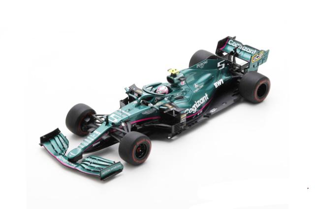 スパーク 1/18 アストンマーティン AMR21 S.ベッテル  2021年バーレーンGP No.5