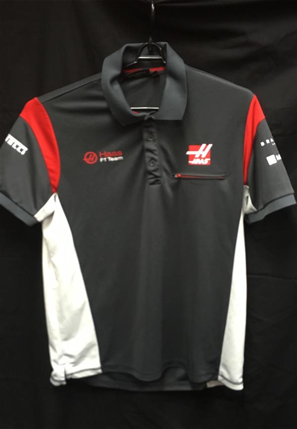 ハースF1チーム 2017 チーム支給品 ポロシャツ USED サイズL