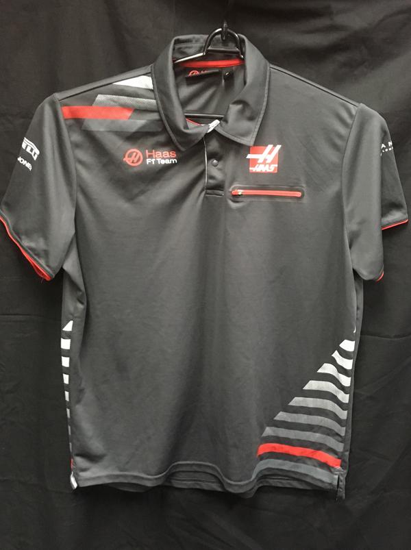 ハースF1チーム 2018 チーム支給品 ポロシャツ USED サイズXL (A)