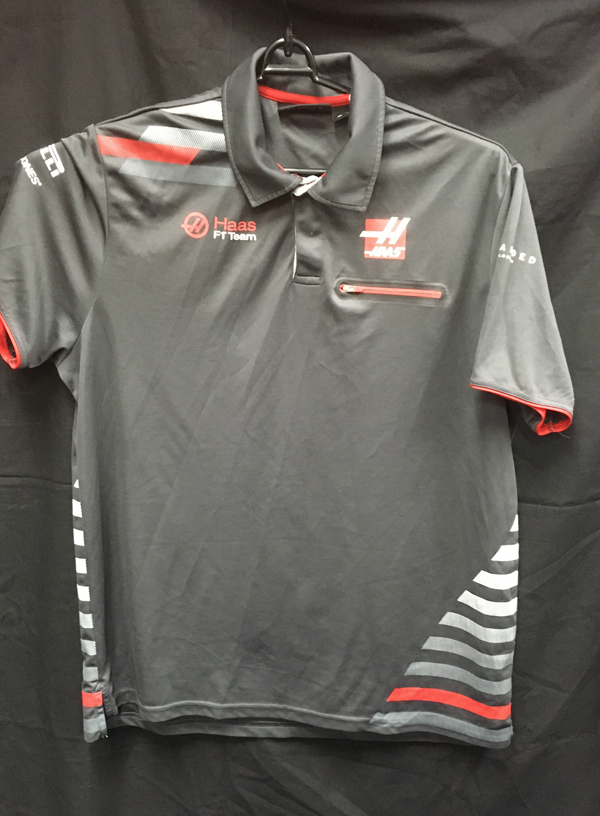 【SALE】ハースF1チーム 2018 チーム支給品 ポロシャツ USED サイズXL (B)