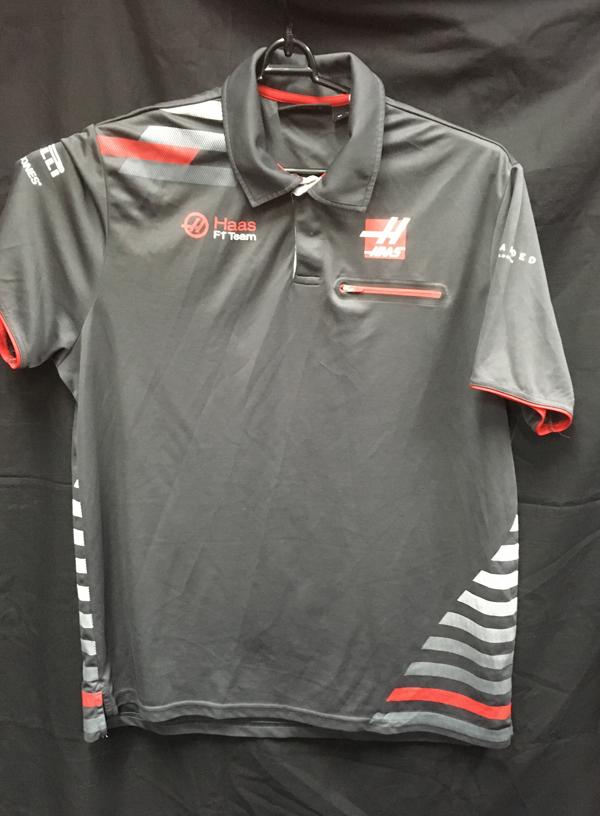 ハースF1チーム 2018 チーム支給品 ポロシャツ USED サイズXL (B)