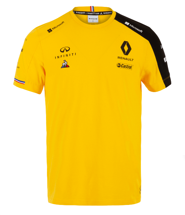 ルノー F1チーム チームTシャツ イエロー