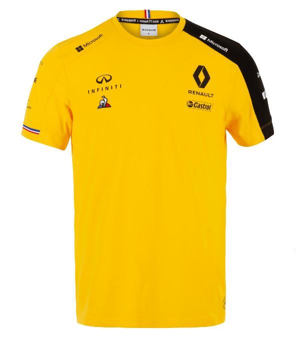 2019 ルノー F1チーム チームTシャツ イエロー
