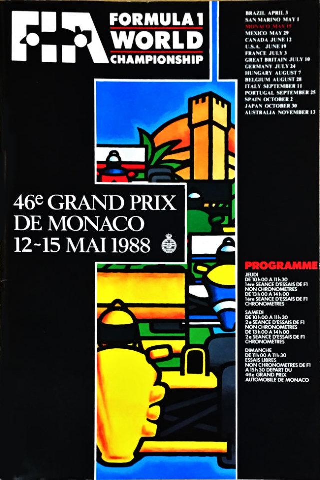 F1公式プログラム 1988年モナコGP