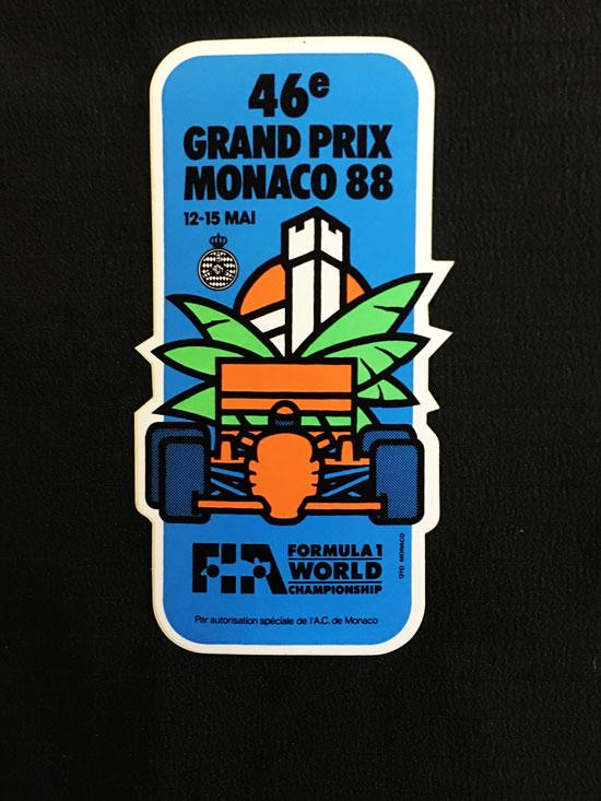 1988年F1モナコGP 公式ステッカー