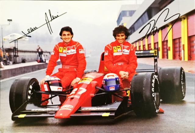 1991 フェラーリ 642 J.アレジ&A.プロスト 大判ファクトリーカード