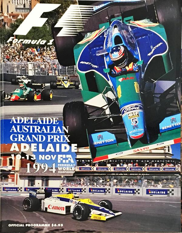 F1公式プログラム 1994年オーストラリアGP