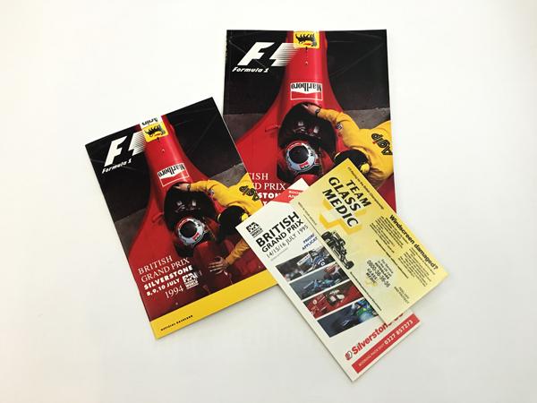 F1公式プログラム 1994年イギリスGP (縮小版付)