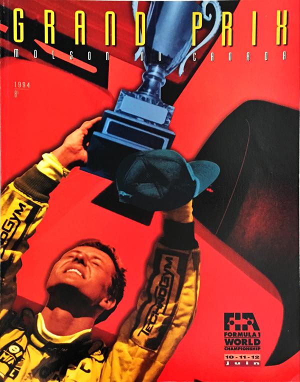 F1公式プログラム 1994年カナダGP