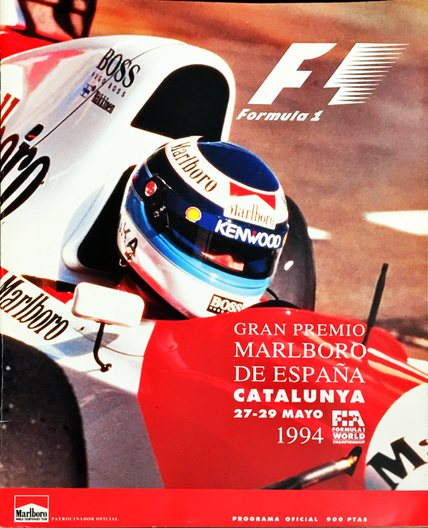 F1公式プログラム 1994年スペインGP