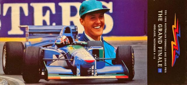 オーストラリアGP 1995 M.シューマッハ  ポストカード(RACEDAY消印付)