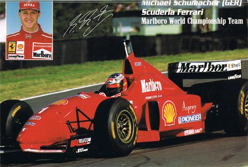 フェラーリ 1996 シューマッハ F310 プロモーションステッカー