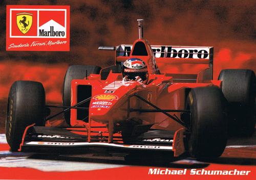 【ドライバーズカードフェアー対象商品】フェラーリ 1997 シューマッハ マルボロカード