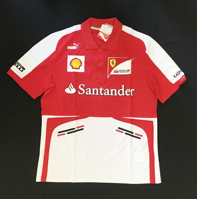 2013 フェラーリ(FERRARI F1)チーム支給品 チームスタッフポロ 新品 サイズM(大きめ)