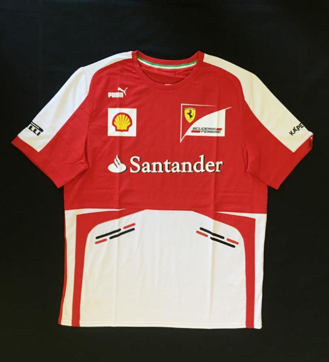 2013 フェラーリ(FERRARI F1)チーム支給品 チームスタッフTシャツ 新品 サイズL(大きめ)