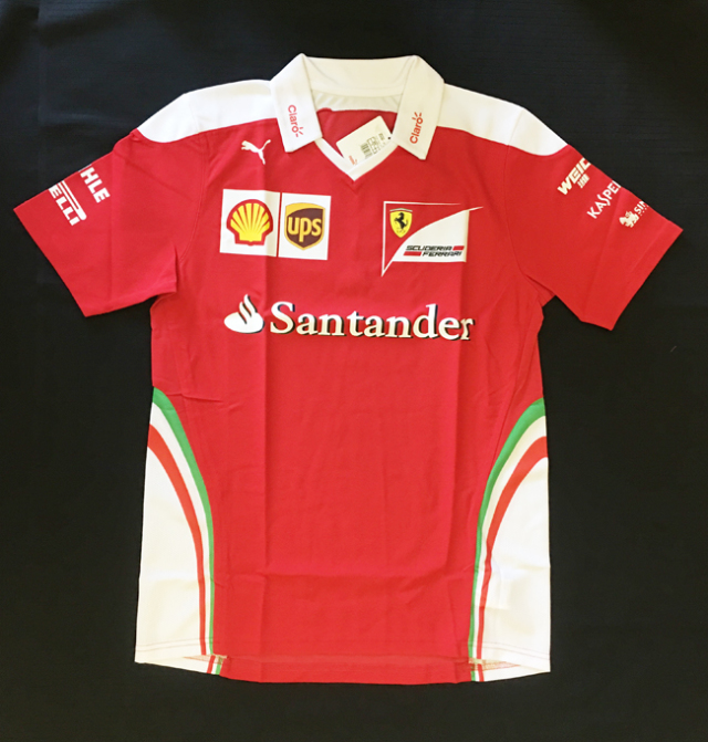 2016 フェラーリ(FERRARI F1)チーム支給品 チームスタッフTシャツ 新品 サイズM(大きめ)