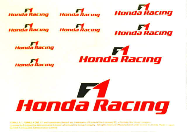 HONDA(ホンダ)F1 2006 プロモーションステッカーセット(大)