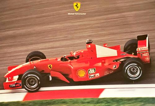 フェラーリ 2001 M.シューマッハ マシンカード
