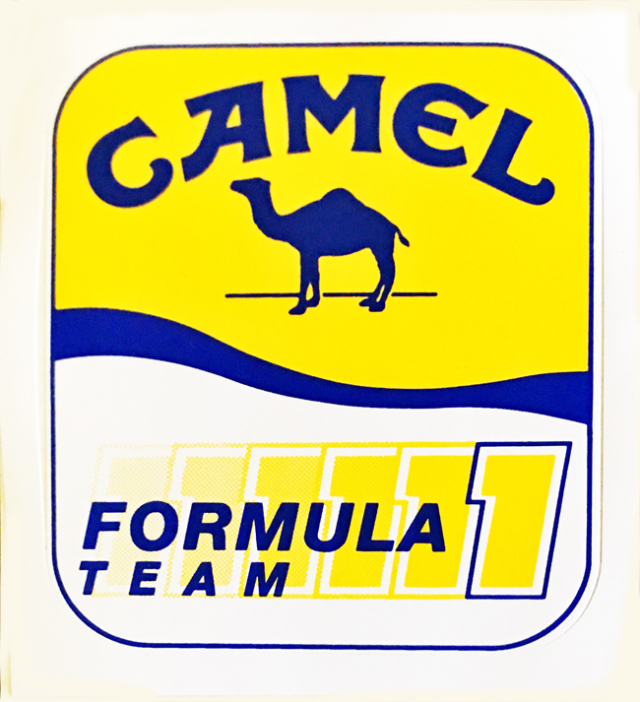 CAMEL(キャメル)  フォーミュラ F1 1990年代初頭 プロモーションステッカー
