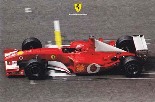 フェラーリ 2002 シューマッハ マシンカード