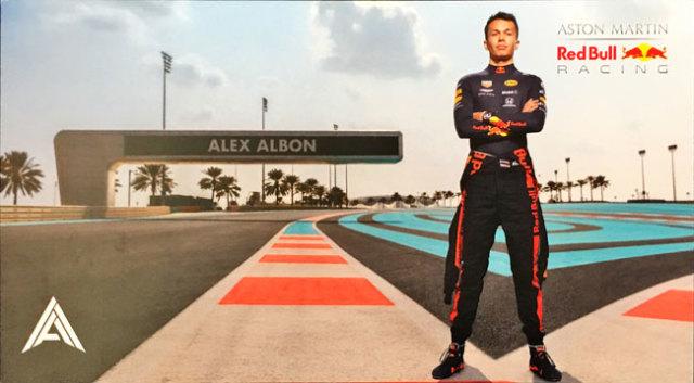 レッドブル ホンダ F1 2019 A.アルボン ドライバーズカード