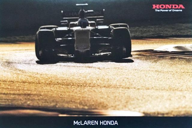 HONDA マクラーレン ホンダ MCL32 2017 プロモーションポストカード TYPE B