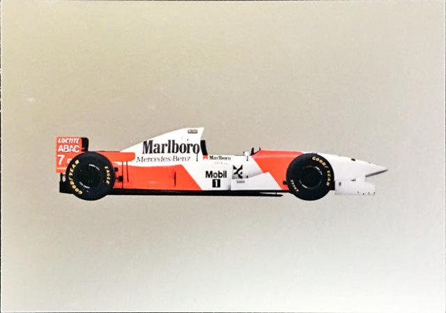 メルセデスミュージアム限定マクラーレン メルセデス MP4-10 1995 マシンポストカード