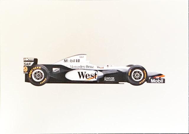 メルセデスミュージアム限定マクラーレン メルセデス MP4-12 1997 マシンポストカード