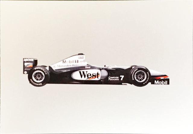 メルセデスミュージアム限定マクラーレン メルセデス MP4-13 1998 マシンポストカード