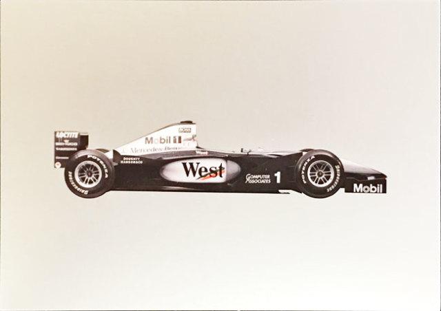 メルセデスミュージアム限定マクラーレン メルセデス MP4-14 1999 マシンポストカード