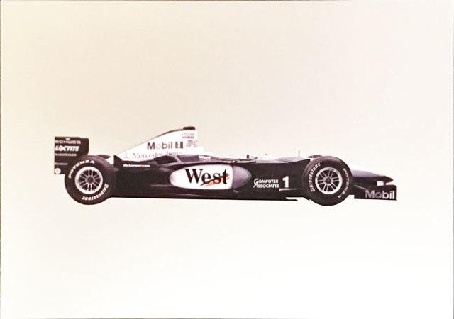 メルセデスミュージアム限定マクラーレン メルセデス MP4-15 2000 マシンポストカード