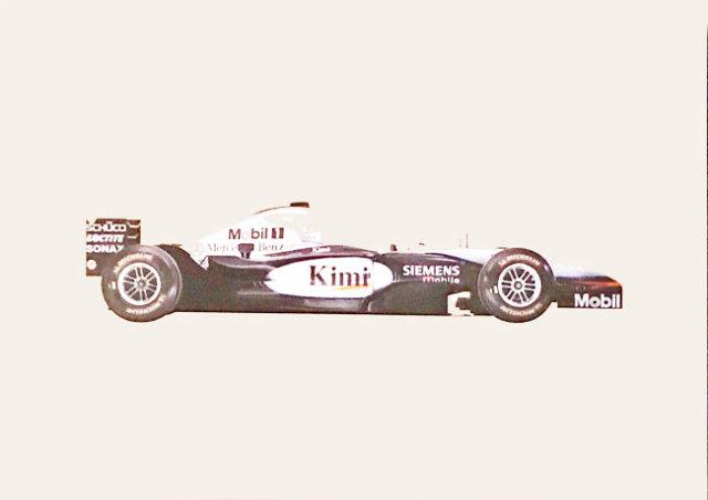 メルセデスミュージアム限定マクラーレン メルセデス MP4-17D 2003 マシンポストカード