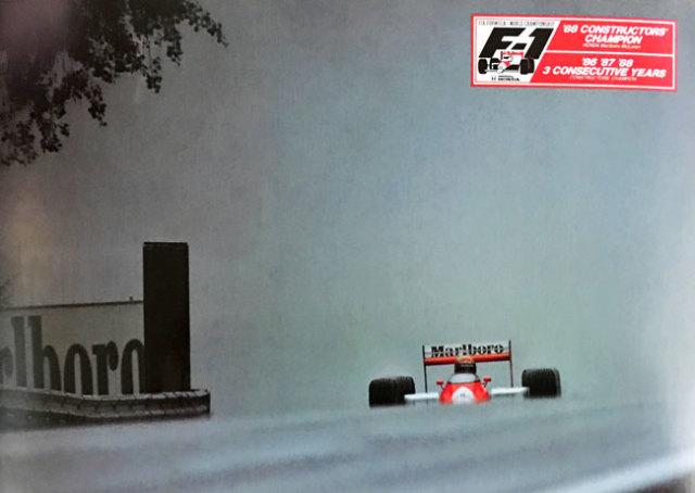 ホンダ HONDA F1 マクラーレン MP4/4 A.セナ 1988年 3回コンストラクターズチャンピオン獲得記念 ポストカード TYPEC