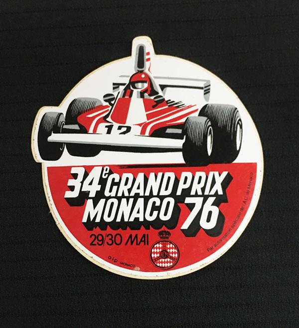 1976年F1モナコGP 公式ステッカー