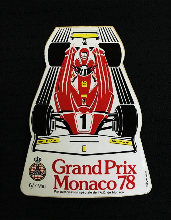 1978年F1モナコGP 公式ステッカー