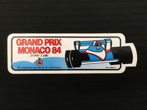 1984年F1モナコGP 公式ステッカー