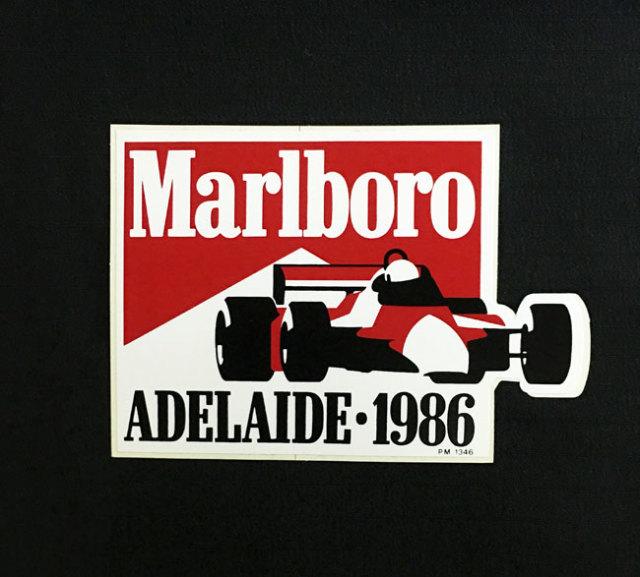 マルボロ 1986年 オーストラリアGP プロモーションステッカー