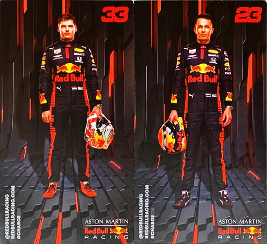 2020 レッドブル ホンダ F1 M.フェルスタッペン&A.アルボン ドライバーズカード2枚セット