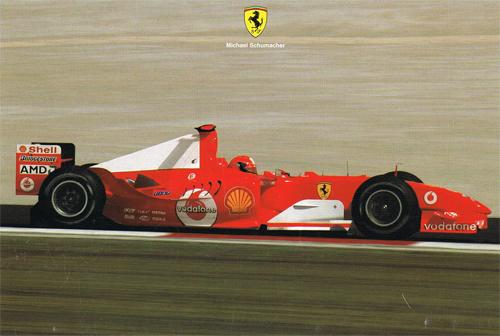 フェラーリ 2004 シューマッハ マシンカード